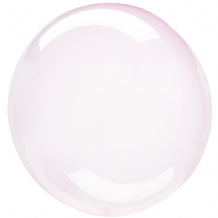 "Crystal Clearz Balloon - Light Pink Crystal Clearz (18"") 1pc"